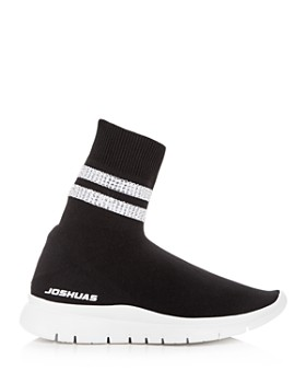 Joshua Sanders - Women's Embellished Knit Wedge Sneakers