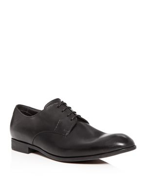 ARMANI COLLEZIONI MEN'S LEATHER PLAIN TOE OXFORDS