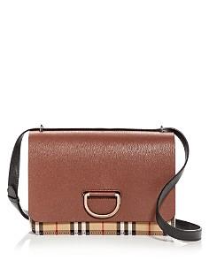 Burberry - Medium Vintage Check & Leather D-Ring Bag