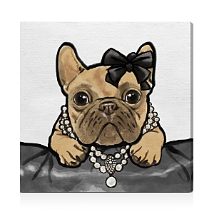 Oliver Gal Glam Frenchie Wall Art, 30 x 30
