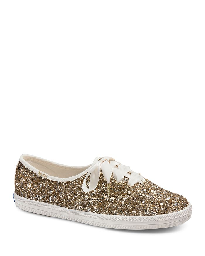 1e02dcc25f2 Keds x kate spade new york Women s Glitter Lace Up Sneakers ...