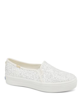 Keds - x kate spade new york Women's Triple Decker Glitter Canvas Slip-On Sneakers