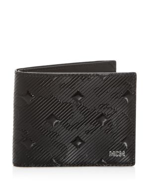 Mcm Coburg Munich Lion Camo-Embossed Bi-Fold Wallet