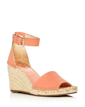 Women'S Leera Suede Espadrille Wedge Sandals, Fancy Flamingo Leather