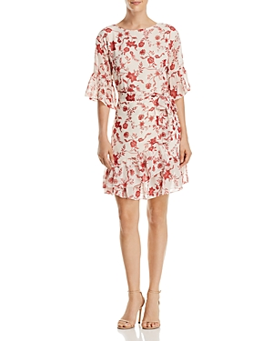 Rebecca Minkoff Wendy Ruffled Floral-Print Dress
