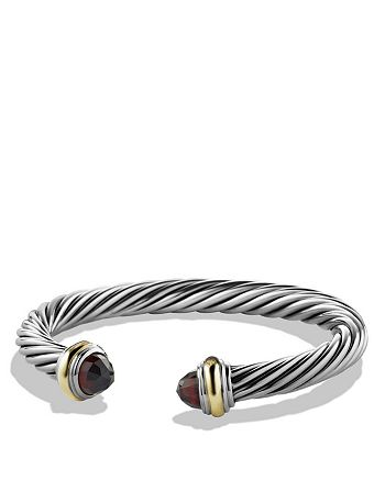 David Yurman - Cable Classics Bracelet with Garnet & 14K Gold