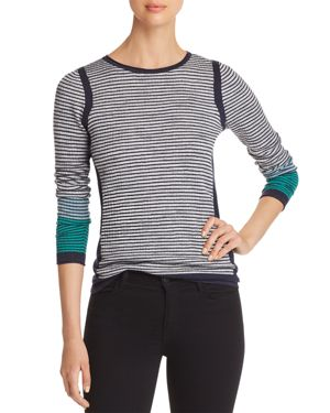 NIC AND ZOE NIC+ZOE STRIPED KNIT TOP