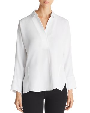 NIC AND ZOE NIC+ZOE FLOWING EASE COLLARED TOP