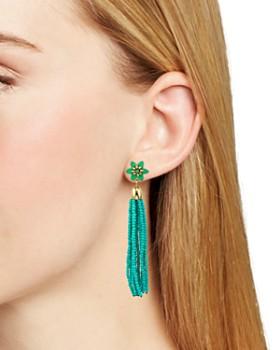 Rebecca Minkoff - Calla Beaded Tassel Drop Earrings