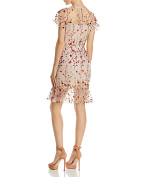 AQUA - Butterfly Floral Embroidered Dress - 100% Exclusive