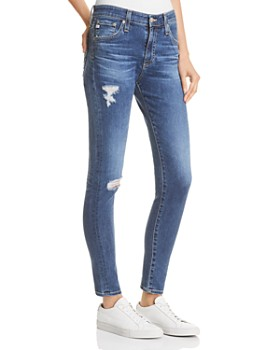 AG - Farrah Ankle Skinny Jeans in 10 Years Baywood Destructed