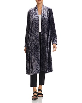 Eileen Fisher - Printed Velvet Duster Jacket - 100% Exclusive