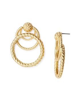 For Love & Lemons - Triple-Loop Drop Earrings ...