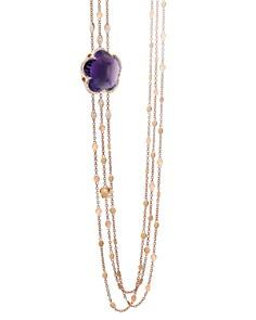 "Pasquale Bruni 18K Rose Gold Bon Ton Amethyst & Diamond Multi Strand Necklace, 40.5"" - Bloomingdale's_0"