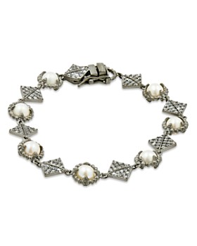 Freida Rothman - Cultured Freshwater Pearl Textured Chain Bracelet