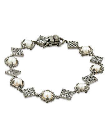 Freida Rothman - Cultured Freshwater Pearl Textured Chain Bracelet