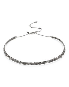 Alexis Bittar - Crystal Encrusted Spike Choker Necklace