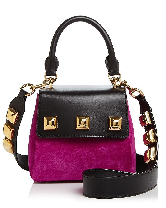 MARC JACOBS - Studded Suede & Leather Satchel