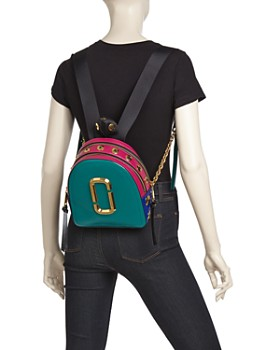 MARC JACOBS - Pack Shot Mini Leather Backpack