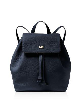 5a84cef4376b MICHAEL Michael Kors Junie Medium Leather Flap Backpack | Bloomingdale's
