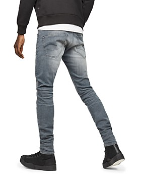 G-STAR RAW - 3301 Deconstructed Super Slim Fit Jeans in Wess Grey Dk Aged
