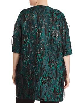 Marina Rinaldi - Nicosia Embellished Jacquard Coat