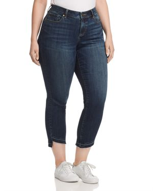 Vince Camuto Plus Curved-Hem Crop Jeans in Dark Authentic 3027990