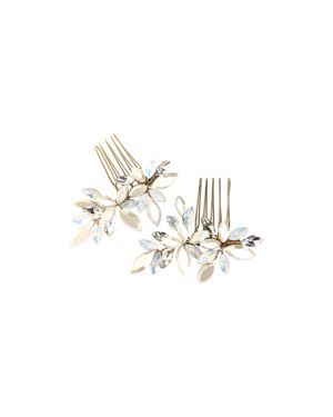 BRIDES AND HAIRPINS Brides And Hairpins Efi Crystal Combs in Gold