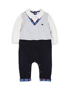 Armani Junior Boys' Sweater Vest Romper - Baby - Bloomingdale's_0