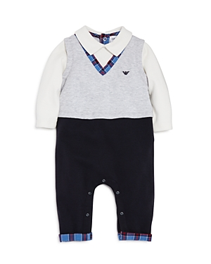 Armani Junior Boys Sweater Vest Romper  Baby