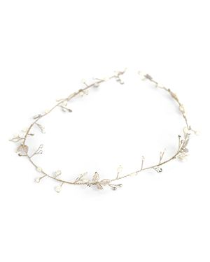 BRIDES AND HAIRPINS Brides And Hairpins Marica Halo Headpiece in Gold