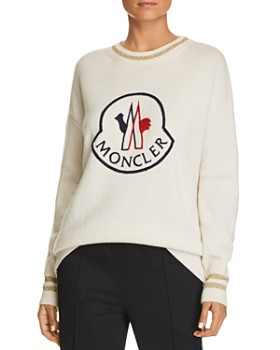 Moncler - Embroidered Logo Sweater, Striped Trousers & Powder Tote