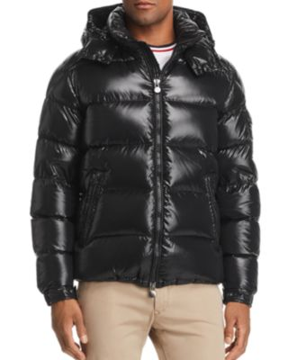 MONCLER MAYA HOODED PUFFER JACKET, BLACK