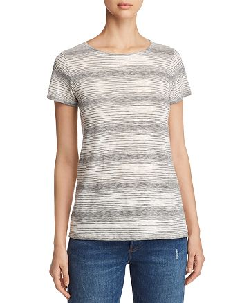 648ab04a7 Eileen Fisher Petites Striped Crewneck Tee   Bloomingdale's