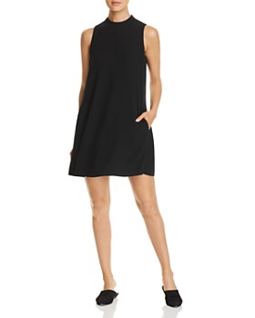 Eileen Fisher - Silk A-Line Mini Shift Dress