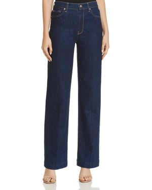 7 For All Mankind Alexa Wide Leg Jeans in Avant Rinse