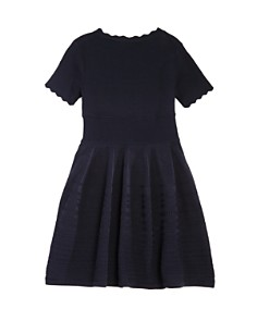 Armani Junior - Girls' Scalloped Stretch-Knit Dress - Big Kid