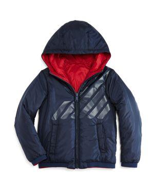 Armani Junior Boys' Reversible Hooded Jacket - Little Kid, Big Kid