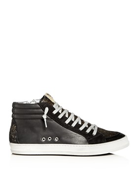 P448 - Women's A8 Skate Leather & Suede Mid Top Sneakers