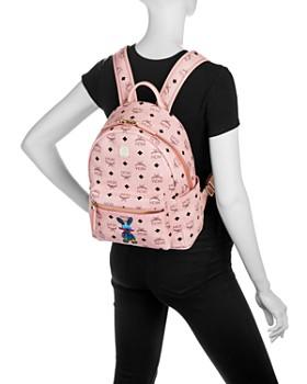 MCM - Rabbit Logo Print Small Backpack