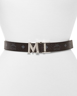 MCM - Women's Visetos Logo Buckle Reversible Belt