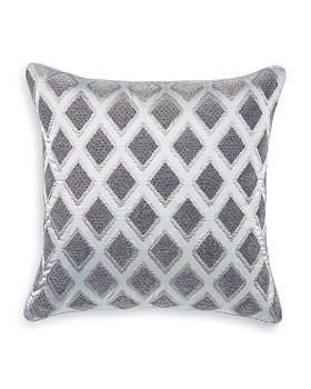 """Hudson Park Collection - Woven Diamond Velvet Decorative Pillow, 20"""" x 20"""" - 100% Exclusive"""