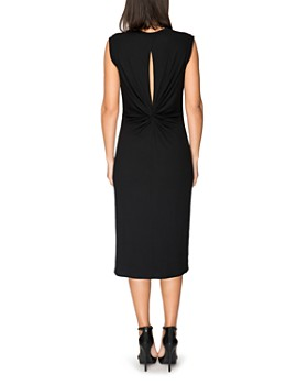 B Collection by Bobeau - Lyla Ribbed Twist-Back Midi Dress