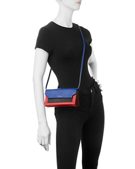 Marni - Trunk Color-Block Leather Convertible Crossbody
