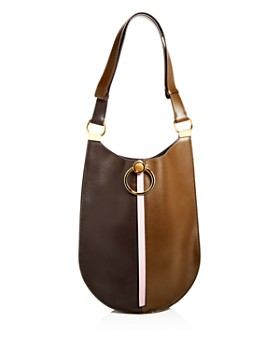 Marni - Earring Color-Block Medium Leather Hobo