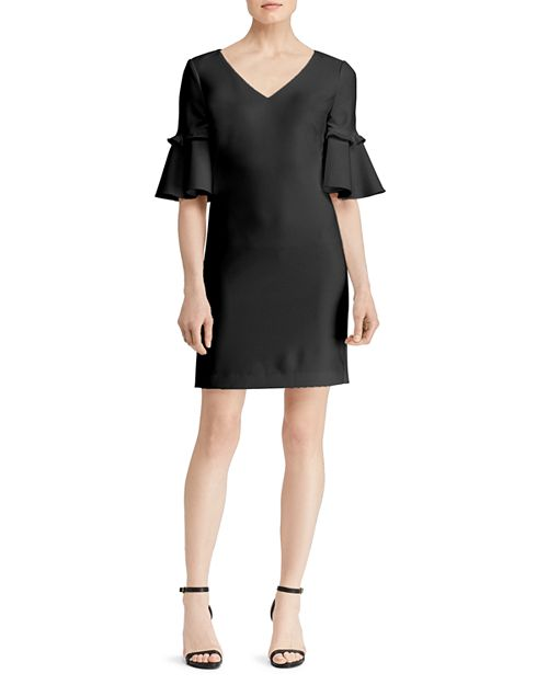 Ralph Lauren - Bell-Sleeve Crepe Dress