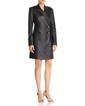 Theory - Leather Blazer Dress