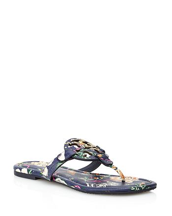 7d3c2f1ad4ea Tory Burch - Women s Miller Floral Leather Thong Sandals