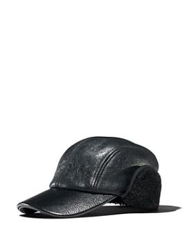rag & bone - Leather & Faux Shearling Baseball Cap