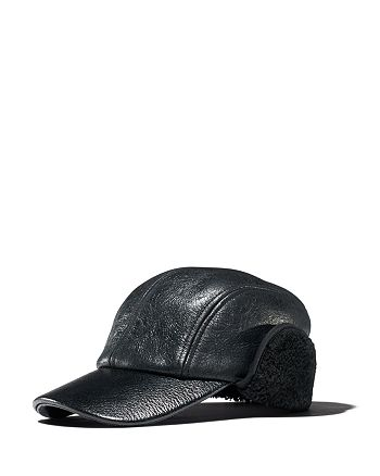b1383319a23c rag   bone - Leather   Faux Shearling Baseball Cap